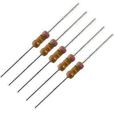 5 Pack -- 1 Watt 5 Carbon Film Resistors - 75k Ohm