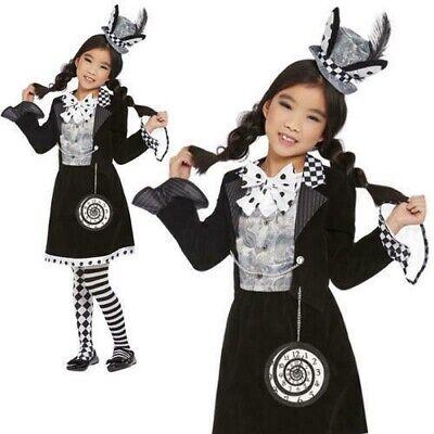 Dunkel Mad Hatter Kostüm Mädchen Halloween Alice Im - Mädchen Mad Hatter Kostüm