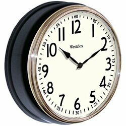 Westclox 32041AB Round Vintage Kitchen Classic Clock 12-Inch Black