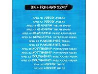 Ed Sheeran Tickets x 2 Nottingham Arena 26th April