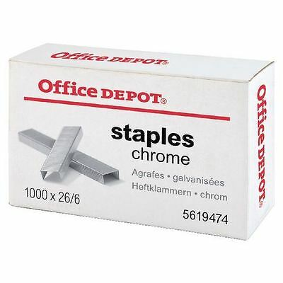 Office Depot Staples 26/6 - Box of 1000