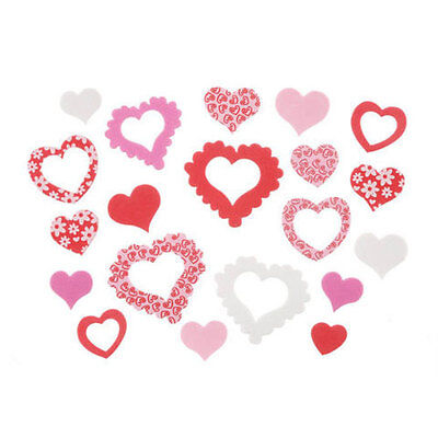 Foam Heart Stickers, Valentine's Day Assortment, 64 Pieces
