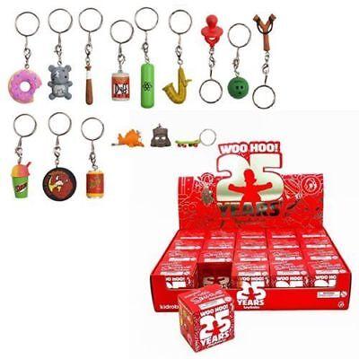 "Kidrobot Keychains The Simpsons Abe Simpson Grandpa 1.5/"" 3D Vinyl Keychain Box"