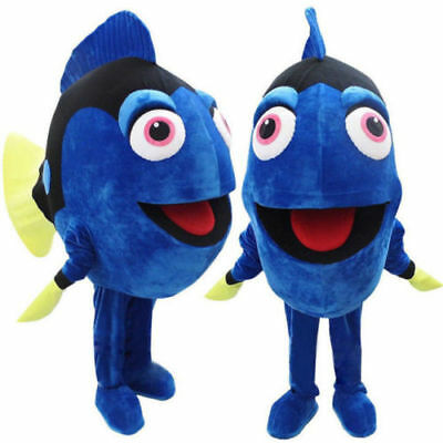 Dory The Blue Fish Mascot Costume From Finding Nemo Halloween Fancy Dress Adult](Dory Halloween Costume Adults)