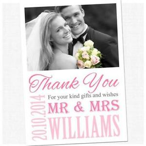 Wedding thank you cards wedding invites cards ebay 50 wedding thank you cards junglespirit Images