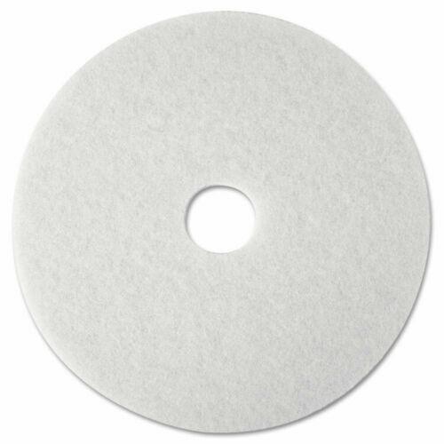BOX OF 5 ~ 3M 20 in Super Polishing Floor Pads White 4100