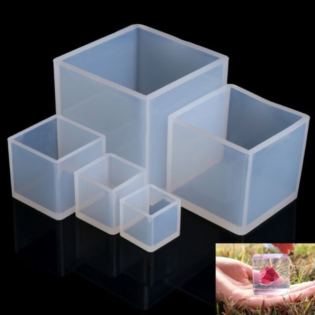 Silicone Pendant Mold Jewelry Making Cube Resin Casting Mould Craft DIY Tool Hot