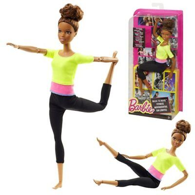Barbie Made to Move ENDLESS MOVES African American Doll Yellow Top NEW NRFB!
