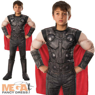 Deluxe Thor Boys Fancy Dress Avengers Endgame Superhero Kids Comic Book Costume ](Thor Costumes For Girls)