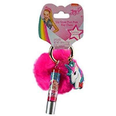 JOJO Siwa Lip Gloss Pom Pom Key Chain Perfect for Gifts New with Tags - Pink