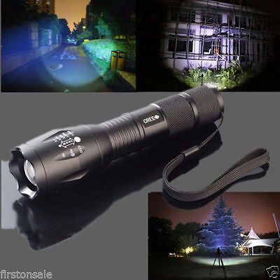 8000 Lumen 5Mode Zoomable CREE XML T6 LED 18650 Tactical Flashlight Focus Torch