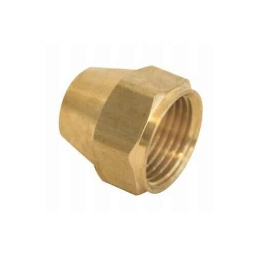 """1/2"""" Brass Short Flare Nut - Pack of 10 - 45 Degree Flare Nut, Ships from USA"""