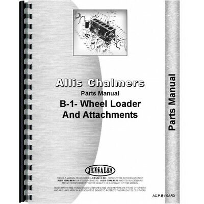 Allis Chalmers B-1 Lawn Garden Tractor Parts Manual Ac-p-b1 Gard