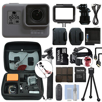 GoPro HERO6 Black Waterproof 4K Camera Camcorder + 32GB Accessory Kit