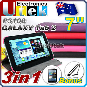 360° Rotating Leather Case Cover For Samsung Galaxy Tab 2 7.0 Tablet P3100 P3110