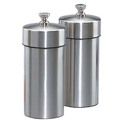 Chef Specialties Futura Brushed Stainless Pepper And Salt Mill Set 4 1 Each.