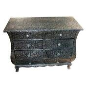 Black Shabby Chic Bedside Table