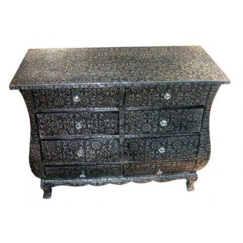black shabby chic bedside table ebay. Black Bedroom Furniture Sets. Home Design Ideas