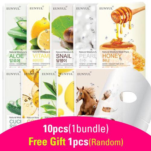 11pcs Bundle Face Mask Sheet Korean Cosmetics Moisture Brigh