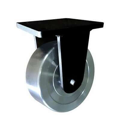 6 Inch Caster Wheel 3307 Pounds Fixed Cast Iron Polyurethane Top Plate