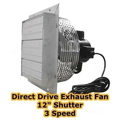 Exhaust Fan - 12 Shutter - 3 Speed - Direct Drive - 1115 Cfm - 1500 Rpm - 115v