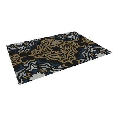 """Kess InHouse Miranda Mol """"Golden Fractals"""" Indoor/Outdoor Floor Mat, 4x5 Feet"""