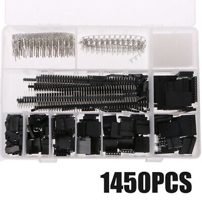 1450pcs 2.54mm Dupont Wire Jumper Pcb Pin Header Connector Housing Kit Crimp Gt