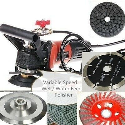 5 Variable Speed Wet Polisher Grinder Lapidary Saw Marble Stone Granite Cement