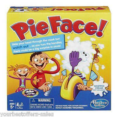 Pie Face Game Hasbro Kids Toys Pie Throwing Kids Mask Craft Supplies Brand New
