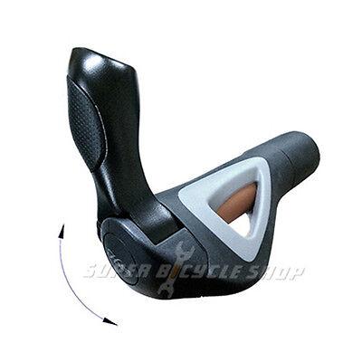 HAFNY HF-150 Hollow Bicycle Grip Black x Grey x Orange