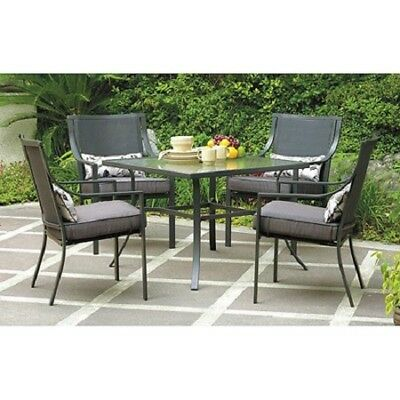 Patio Furniture Set Outdoor Dining Table Sets Clearance 5 Piece 4 Chairs Cushion ()