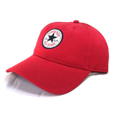 Converse Chuck Taylor All Star Patch Classic Twill Baseball Cap CON301 Red OSFA