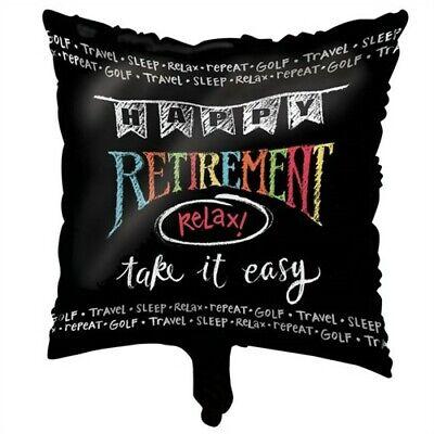 Retirement Chalk Foil Balloon Happy Retirement Party Supplies Decorations - Happy Retirement Balloons