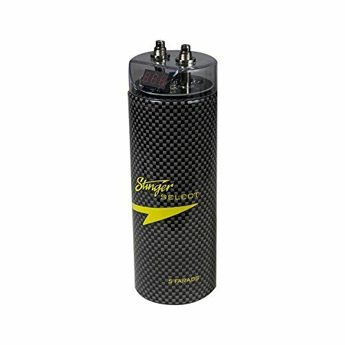 Stinger Select SSCAP5M Brushed Aluminum 5 Farad Digital Capacitor