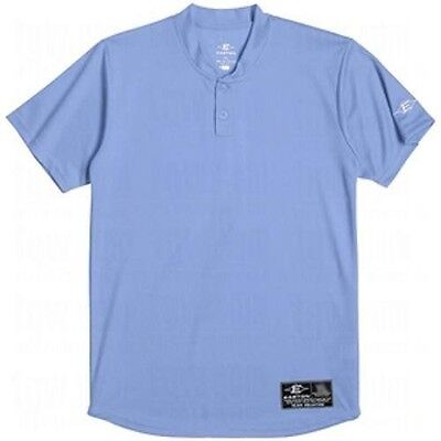 Easton Skinz 2 Button Placket Jersey Columbia Blue Adult