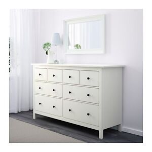 Complete King Size White Bedroom Set - 2 Dressers 2 Nightstands