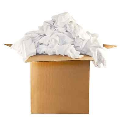 White Knit T-shirt Rags 25lb Box