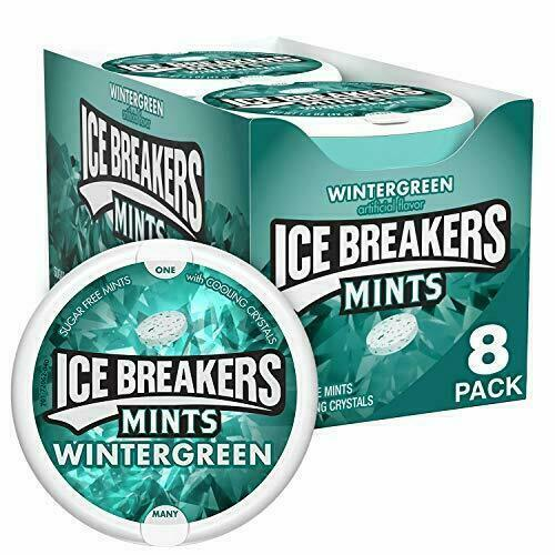 ICE BREAKERS Sugar Free Mints Wintergreen 1.5 Ounce Pack of 8 Pack of 8