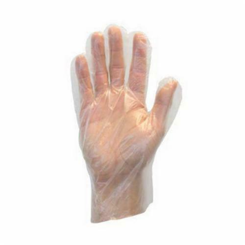 NEW CASE of 1,000 Safety Zone Clear Cast Poly Polyethylene Gloves Size MEDIUM ++