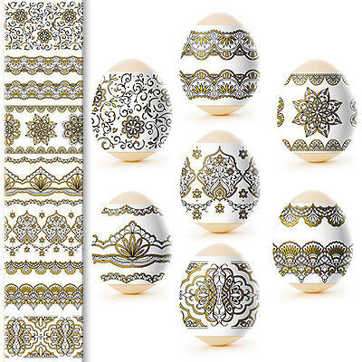 Thermo Heat Shrink Sleeve Easter Egg Wraps Pysanka Pisankа Gold Painting