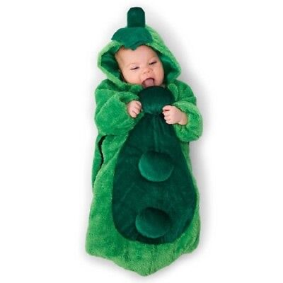 Dream Weaver Pea in the Pod Infant Bunting Halloween Costume 0-6 Month