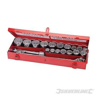 Socket Set 3/4″ 19-50mm Drive Metric 21pce Nut Socket Heavy duty Commercial