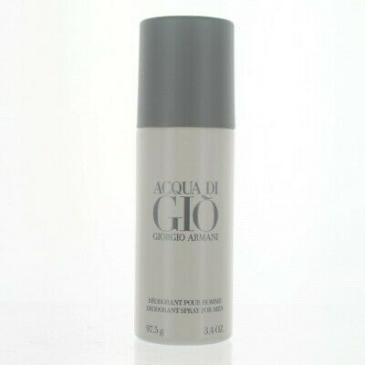 Acqua Di Gio 3.4 Oz Deodorant Spray By Giorgio Armani Unbox For Men