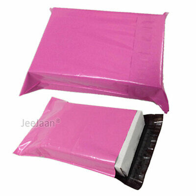 100 Pink Postal Bags Mailing Parcel Plastic Strong Poly 12