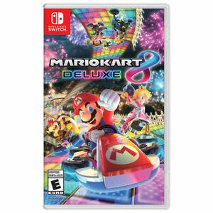 Nintendo Switch Mario Kart 8 Deluxe Game New/Sealed