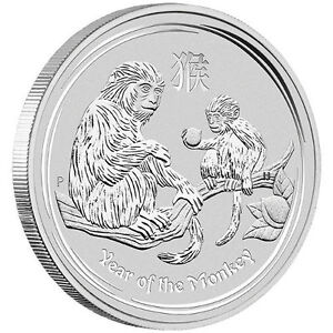 5 oz Pièce Argent Pur Silver Year of the Monkey 2016 Perth Mint