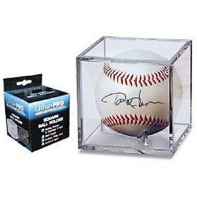 12 Ultra Pro UV Baseball Cube Holder with stand New Ball Cubes