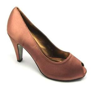 8ad591be62f Bronze Satin Shoes