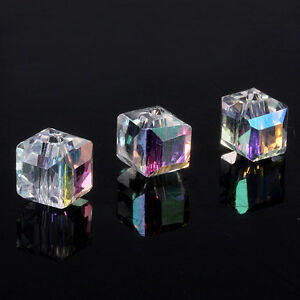 YOU-PICK-DIY-jewelry-20pcs-6x6x6mm-Glass-Crystal-5601-Cube-Beads