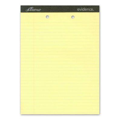 Ampad Legal Pad - Ampad Legal-ruled 2-hole Writing Pad - 50 Sheet - 15 Lb - Legal/wide (amp20224)